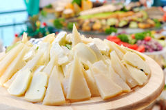 Slices of cheese Stock Image
