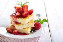 Slices of cheesecake Stock Photo