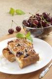 Slices of cherry pie Stock Photo