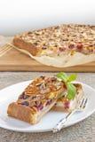 Slices of cherry pie Stock Photos