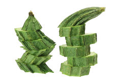 Slices of Chinese Okra Royalty Free Stock Image