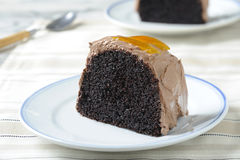 Slices of chocolate cake Stock Image