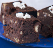 Slices of chocolate cake Stock Images