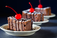 Slices Of Chocolate Cake Royalty Free Stock Photography