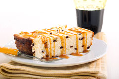 Slices of chocolate chip cheesecake Royalty Free Stock Photos