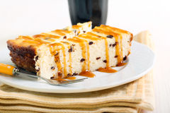 Slices of chocolate chip cheesecake Stock Photography