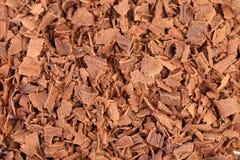 Slices of chocolate. Macro. Stock Image