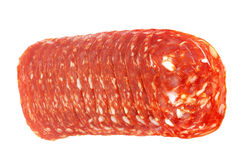 Slices of chorizo Royalty Free Stock Images