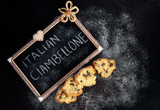 Slices Of Ciambellone With Chocolate Chips Stock Photos