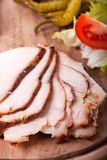 Slices of cold roast pork Royalty Free Stock Images