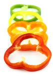 Slices of colorful sweet bell pepper Stock Image
