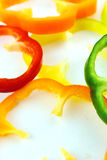 Slices of colorful sweet bell pepper Royalty Free Stock Photography