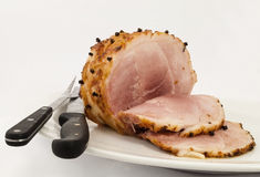 Slices Cooked Gamon On Plate Stock Photography
