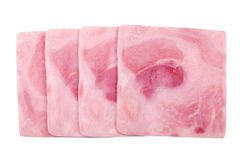 Slices of cooked ham Royalty Free Stock Photo