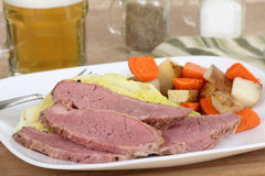 Slices of Corned Beef Stock Photo