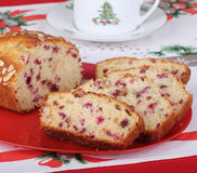 Slices of Cranberry Bread Stock Photo