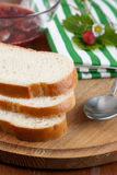 Slices of crusty white bread Stock Photography
