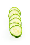 Slices cucumber. Isolated on white background stock photography