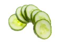 Slices of cucumber Stock Image