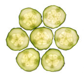 Slices of cucumber Royalty Free Stock Images