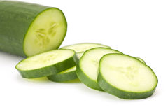 Slices of cucumber Stock Images