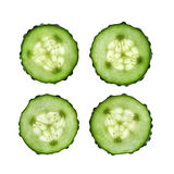 Slices of cucumber Stock Photos