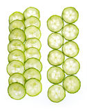 Slices of cucumber isolated on white background Stock Image