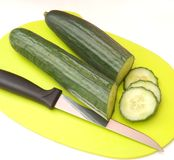 Slices of cucumbers Stock Photo