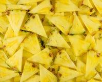 Slices cut pineapple Stock Photos