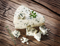 Slices of Danish Blue cheese. Stock Photography