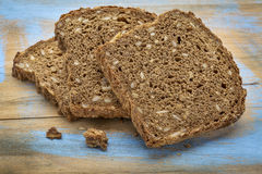Slices of dark rye bread Royalty Free Stock Image