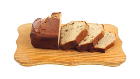 Slices Date Bread Front View Stock Image