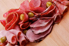 Slices of Delicatessen Stock Photos