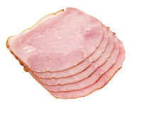 Slices of delicious ham Stock Images