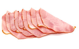 Slices of delicious ham Royalty Free Stock Images