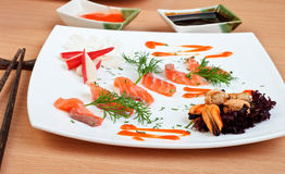 Slices of delicious salmon Royalty Free Stock Photos