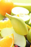 Slices of different fruits Stock Photography