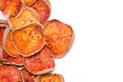 Slices Of Dried Bael Fruit. Royalty Free Stock Photography