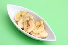 Slices of dried bananas Stock Photo