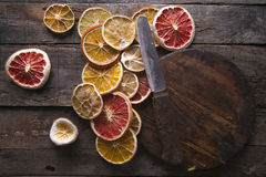 Slices of dried citrus Royalty Free Stock Image