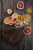 Slices of dried citrus Stock Photography