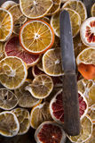 Slices of dried citrus Stock Photo