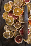 Slices of dried citrus Royalty Free Stock Images