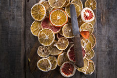 Slices of dried citrus Stock Images