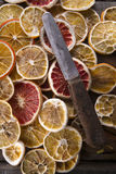Slices of dried citrus Royalty Free Stock Photography