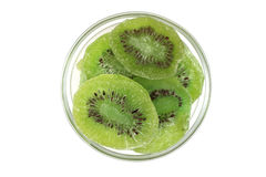 Slices of dried kiwi in a glass Stock Photos