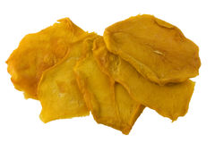 Slices of dried mango isolated Royalty Free Stock Photography