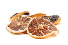 Slices of dried orange Stock Image