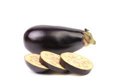 Slices of eggplant or aubergine vegetable Stock Photo
