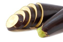 Slices of eggplants Stock Photography